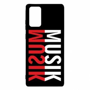 Etui na Samsung Note 20 Napis Muzyka