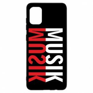 Etui na Samsung A31 Napis Muzyka