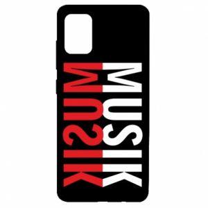Etui na Samsung A51 Napis Muzyka