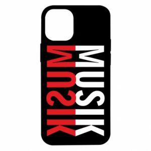 Etui na iPhone 12 Mini Napis Muzyka