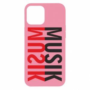 Etui na iPhone 12 Pro Max Napis Muzyka