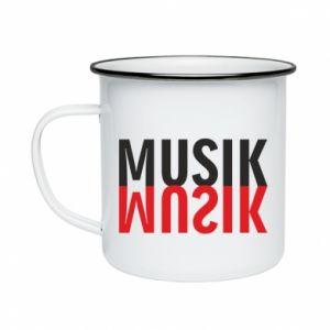 Kubek emaliowany Napis Muzyka