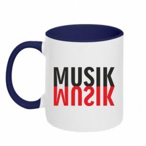 Two-toned mug Napis Music