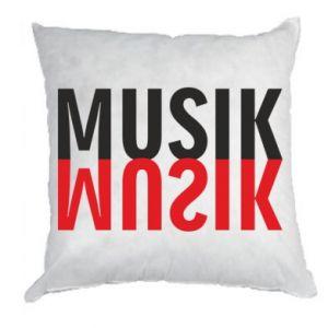 Poduszka Napis Muzyka