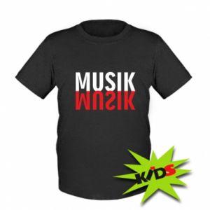 Koszulka dziecięca Napis Muzyka