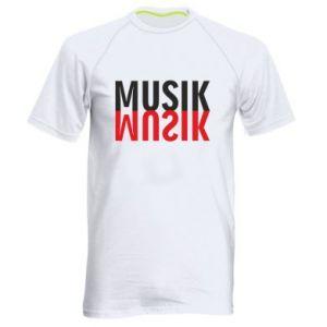 Koszulka sportowa męska Napis Muzyka