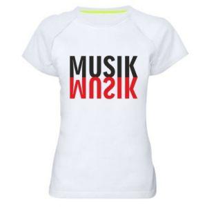 Koszulka sportowa damska Napis Muzyka