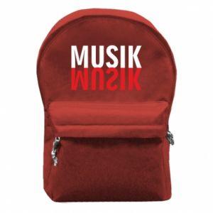 Plecak z przednią kieszenią Napis Muzyka