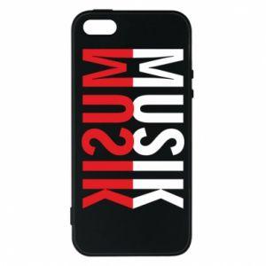 Etui na iPhone 5/5S/SE Napis Muzyka