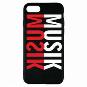 Etui na iPhone 7 Napis Muzyka