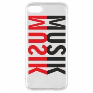Etui na iPhone 8 Napis Muzyka