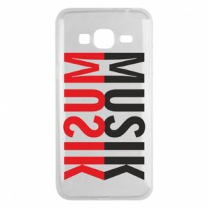 Etui na Samsung J3 2016 Napis Muzyka