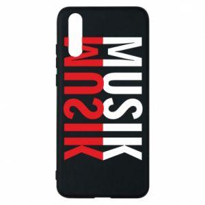 Etui na Huawei P20 Napis Muzyka