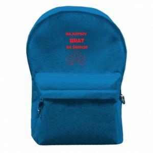 Plecak z przednią kieszenią Napis - Najlepszy brat na świecie