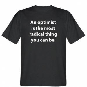 Koszulka Napis: An optimist