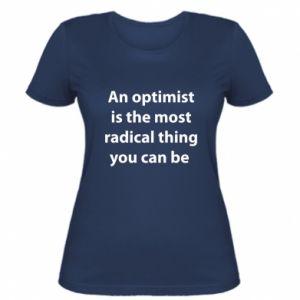 Damska koszulka Napis: An optimist