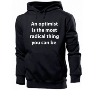 Men's hoodie Inscription: An optimist