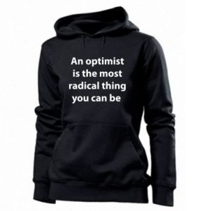 Women's hoodies Inscription: An optimist