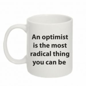 Mug 330ml Inscription: An optimist