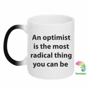 Kubek-kameleon Napis: An optimist