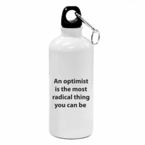 Water bottle Inscription: An optimist