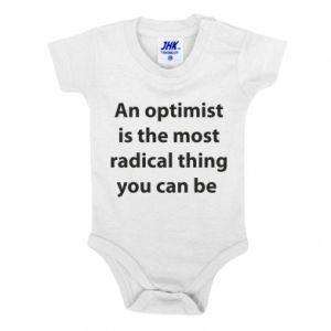 Body dla dzieci Napis: An optimist