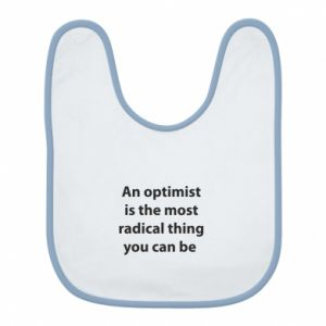 Bib Inscription: An optimist