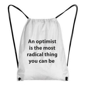 Backpack-bag Inscription: An optimist