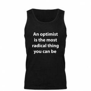 Męska koszulka Napis: An optimist