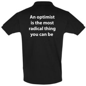 Koszulka Polo Napis: An optimist