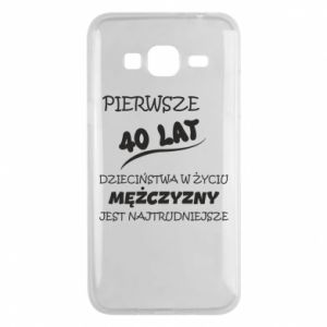 Phone case for Samsung J3 2016 Inscription: The first 40 years of childhood