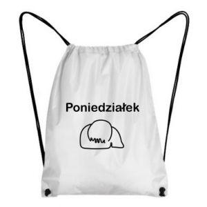 Plecak-worek Napis - Poniedziałek