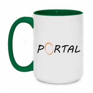 Kubek dwukolorowy 450ml Napis Portal