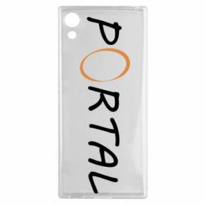 Etui na Sony Xperia XA1 Napis Portal