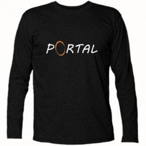 Koszulka z długim rękawem Napis Portal