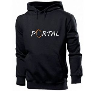 Męska bluza z kapturem Napis Portal