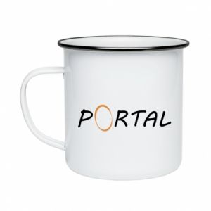 Kubek emaliowane Napis Portal