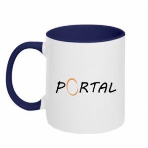 Kubek dwukolorowy Napis Portal