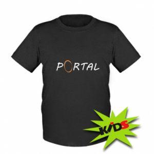 Dziecięcy T-shirt Napis Portal