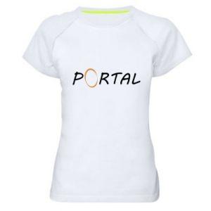 Damska koszulka sportowa Napis Portal