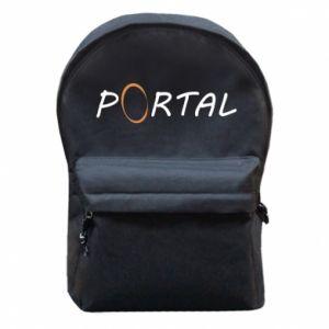 Plecak z przednią kieszenią Napis Portal