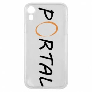 Etui na iPhone XR Napis Portal