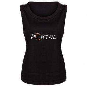 Damska koszulka bez rękawów Napis Portal