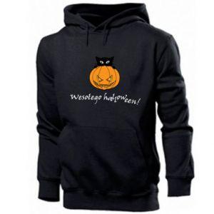 Męska bluza z kapturem Napis: Wesołego Halloween