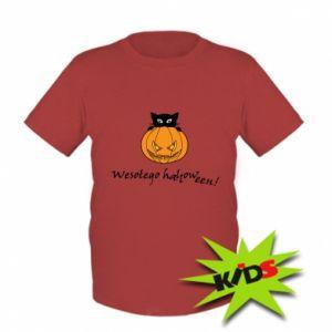 Dziecięcy T-shirt Napis: Wesołego Halloween