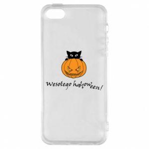 Etui na iPhone 5/5S/SE Napis: Wesołego Halloween