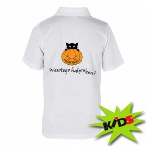 Dziecięca koszulka polo Napis: Wesołego Halloween