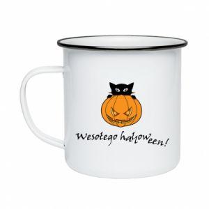 Kubek emaliowane Napis: Wesołego Halloween