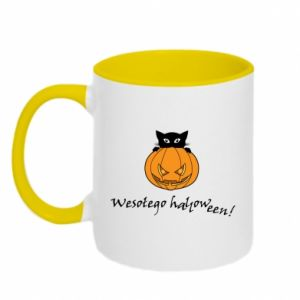 Two-toned mug Inscription: Happy Halloween - PrintSalon