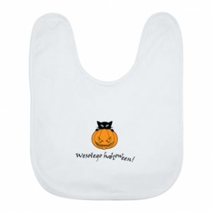 Śliniak Napis: Wesołego Halloween